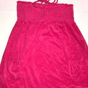 Swimwear 3x Terry Halter convertible coverup Dress